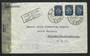 PORTUGAL 1944 Airmail Letter to New York.  Reseal Label  Examined by 7237