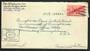 USA 1944 Airmail Letter from army serviceman. Postmark US Army Postal Service . Passed by Army Examiner 20411.