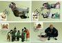 CHINA 1996 Tianjin Clay Statuettes. Set of 4 on Maxim Cards. - 32420 - postcards
