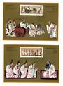 CHINA 1989 2540th Anniversary of the Birth of Confucius. Set of 2 on Maxim Cards. - 32491 - FDC