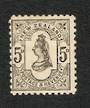 NEW ZEALAND 1882 Victoria 1st Second Sideface 5d Grey. - 33 - LHM