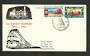 NEW ZEALAND 1963 Centenary of the Railways. Set of 2 on illustrated first day cover. - 34739 - Postmark