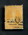 NEW ZEALAND 1862 Full Face Queen 4d Yellow. Perf 12½. Postmark O but off face. - 3534 - Used