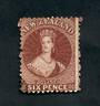 NEW ZEALAND 1862 Full Face Queen 6d Red-Brown. Perf 12½. Excellent copy. - 3535 - FU