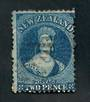 NEW ZEALAND 1862 Full Face Queen 2d Deep Blue. Perf 12½. Excellent copy. - 3536 - FU