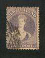 NEW ZEALAND 1862 Full Face Queen 3d Lilac. Perf 12½. Nice copy. Postmark off face. - 3537 - FU