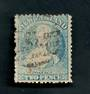 NEW ZEALAND 1862 Full Face Queen 2d Blue. Perf 12½. Worn plate heavily retouched on right. - 3554 - Used