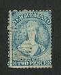 NEW ZEALAND 1862 Full Face Queen 2d Bright Blue. Perf 12½. Extensive plate wear. Very light postmark off face. - 3555 - FU
