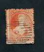 NEW ZEALAND 1862 Full Face Queen 2d Orange. Perf 12½. Worn plate heavily retouched on left. Cancel light off face. - 3558 - Used