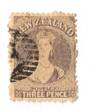 NEW ZEALAND 1862 Full Face Queen 3d Lilac. Perf 12½. Postmark off face. - 3569 - Used
