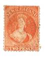 NEW ZEALAND 1862 Full Face Queen 2d Vermilion. - 3583 - Used
