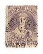 NEW ZEALAND 1862 Full Face Queen 3d Lilac. Dated postmark - 3589 - Used