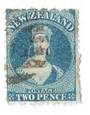 NEW ZEALAND 1862 Full Face Queen 2d Blue. Identified by the vendor as Deep Royal Blue. ..? - 3591 - Used