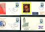 NEW ZEALAND 1965 Sir Winston Churchill on four different illustrated first day covers. - 36367 - FDC