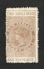 NEW ZEALAND 1882 Victoria 1st Long Type Fiscal 2/6d Brown. - 3740 - MNG