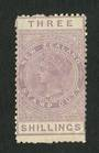 NEW ZEALAND 1882 Victoria 1st Long Type Fiscal 3/- Purple. - 3741 - MNG