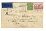 AUSTRALIA 1937 Airmail Letter to passenger on board ship. Sent ahead to Aden. Interesting Post Office cinderellas on the reverse