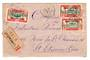 GABON 1927 Registered Letter from Lambarene to France. - 37583 - PostalHist