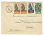 GABON 1936 Letter from Libraville to Kiribi. Backstamp Dakar Senegal. - 37584 - PostalHist