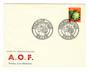 FRENCH WEST AFRICA 1959 first day cover dated 3/1/1959 at Dakar. Not listed in SG. - 37588 - FDC
