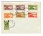 GABON 1960 Selection of stamps from 1932 set on cover postmarked at Brazzaville. - 37598 - PostalHist