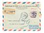 GUADELOUPE 1956 Registered Airmail Letter from Pointe a Pitre to Paris. - 37611 - PostalHist