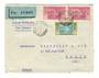 IVORY COAST 1936 Airmail (Dakar to Toulouse via Bamako). Letter from Abidjan to Paris. Interesting backstamps. - 37624 - PostalH