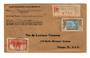 IVORY COAST 1937 Registered Letter from Grand-Bahou to Chicago. - 37634 - PostalHist