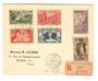 IVORY COAST 1937 Registered Letter from Divo to Paris. Expo set of 6. - 37640 - PostalHist