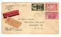 IVORY COAST 1937 Registered Airmail Letter from Abidjan to USA. - 37643 - PostalHist