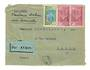 IVORY COAST 1936 Airmail (Dakar to Toulouse via Bamako). Letter from Abidjan to Paris. Dakar backstamp and square backstamp and