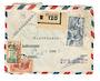IVORY COAST 1955 Registered Letter from Gagnoa to France. Abidjan and Loire backstamps. - 37646 - PostalHist