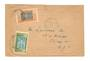 IVORY COAST 1935 Letter from Divo to USA. Abidjan backstamp and square backstamp. - 37650 - PostalHist