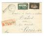 FRENCH MOROCCO 1938 Registered Letter from Fes-Ville Nouvelle to Paris. - 37728 - PostalHist