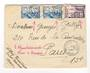 FRENCH MOROCCO 1956 Letter from Rabat to Paris. Two Morocco and one France stamp. Spoilt by comments in red ink. - 37764 - Posta