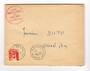 FRENCH MOROCCO 1951 Internal Letter. Cachet in red. - 37766 - PostalHist