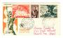 MONACO 1956 Fipex International Stamp Exhibition. Strip of 3  on first day cover. - 37845 - FDC