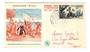 MONACO 1956 Fipex International Stamp Exhibition. Christopher Colombus on first day cover. - 37846 - FDC