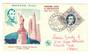 MONACO 1956 Fipex International Stamp Exhibition. Lincoln on first day cover. - 37849 - FDC