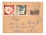 MONACO 1953 Letter with Helsinki and 1924 2fr to Lyon.