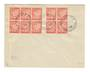 MONACO 1939 Envelope with two blocks (10) of SG D31. - 37854 - PostalHist