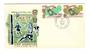 NEW HEBRIDES 1966 World Cup. Set of 2 on first day cover. - 37894 - FDC