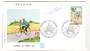 REUNION 1972 Stamp Day on first day cover. Cycling. - 38168 - FDC