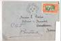 SENEGAL 1931 Airmail Letter from Croiseur Primaogie to Maroc. Readdressed to Bordeaux. Obvious cut otherwise it would be a lovel