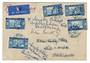 SENEGAL 1935 Airmail Letter from Dakar Avion to England. Readdressed. - 38207 - PostalHist