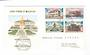ST PIERRE et MIQUELON 1969 Buildings and Monuments. Set of 4 on first day cover. - 38226 - FDC