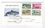 ST PIERRE et MIQUELON 1969 Marine Mammals. Set of 4 on first day cover. - 38227 - FDC