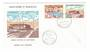 ST PIERRE et MIQUELON 1973 St Pierre Cultural Centre. Set of 2 on first day cover. - 38242 - PostalHist