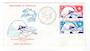 ST PIERRE et MIQUELON 1974 Centenary of the Universal Postal Union. Set of 2 on first day cover. - 38243 - FDC