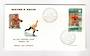 ST PIERRE et MIQUELON 1968 Winter Olympics. Set of 2 on first day cover. - 38244 - FDC